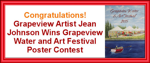 Grapeview Artist Jean Johnson Wins Grapeview Water and Art Festival Poster Contest